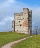 Camino a la ruina del castillo Fotos de archivo