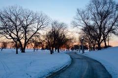 Camino a la salida del sol Fotos de archivo libres de regalías