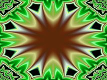 Camino largo abajo del estilo del fractal ilustración del vector