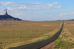 Camino largo, recto, Utah Fotografía de archivo libre de regalías