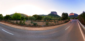 Camino a las colinas Imagen de archivo