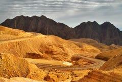 Camino a las montañas. Foto de archivo