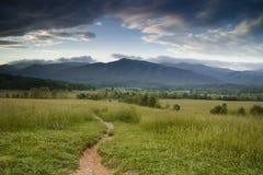 Camino a las montañas Foto de archivo libre de regalías