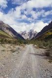 Camino a las montañas de la nieve Fotografía de archivo