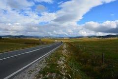 Camino a las nubes Imágenes de archivo libres de regalías
