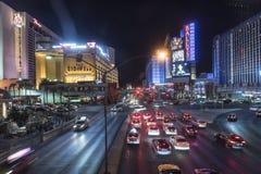 Camino Las Vegas del flamenco en la noche que parece del este imágenes de archivo libres de regalías