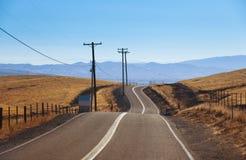 Camino lateral del país Fotografía de archivo