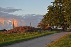 Camino lateral del país letón Imágenes de archivo libres de regalías