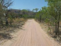 Camino lateral del país australiano Imagen de archivo