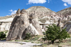 Camino leggiadramente Cappadocia Fotografie Stock Libere da Diritti