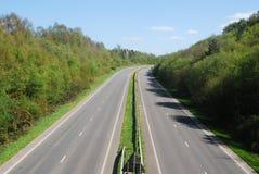 Camino libre de la carretera de doble calzada del tráfico Imagen de archivo libre de regalías