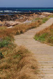 Camino a lo largo de la orilla foto de archivo