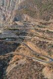 Camino a lo largo de Leba Sierra Visión desde arriba Lubango angola foto de archivo libre de regalías