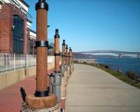 Camino a lo largo del Hudson Imagen de archivo libre de regalías