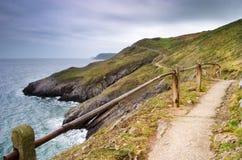Camino a lo largo del mar Foto de archivo libre de regalías