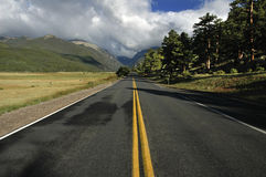 Camino a los Rockies imagenes de archivo