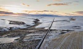 Camino más allá de The Sun Fotos de archivo libres de regalías