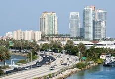 Camino a Miami Beach Fotografía de archivo libre de regalías
