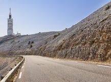 Camino a Mont Ventoux Fotografía de archivo libre de regalías