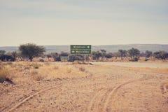 Camino namibiano Fotografía de archivo