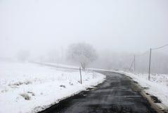 Camino nevado Fotos de archivo libres de regalías