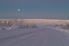 Camino nevado Foto de archivo libre de regalías