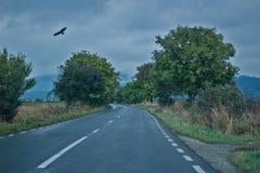 Camino nublado Imágenes de archivo libres de regalías