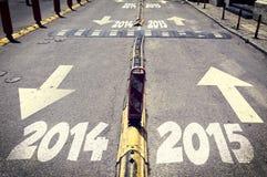 Camino nuevo y viejo del año Fotografía de archivo