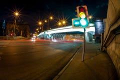 Camino ocupado de la noche Imagen de archivo
