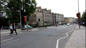 Camino ocupado en Edimburgo escocia metrajes