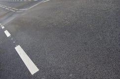 Camino ondulado con la línea blanca modelo Imagenes de archivo