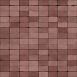 Camino pavimentado con Dull Red Bricks Seamless Texture Imagen de archivo