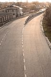 Camino pavimentado de cuatro terminales en Lviv, Ucrania Fotos de archivo