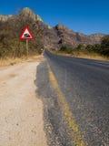 Camino pavimentado en Suráfrica fotografía de archivo