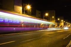 Camino por noche fotos de archivo libres de regalías