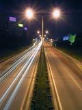 Camino por noche Fotografía de archivo libre de regalías