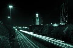 Camino por noche Foto de archivo