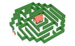 Camino a poseer la casa libre illustration