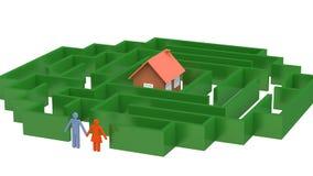 Camino a poseer la casa stock de ilustración
