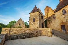 Vista del castillo de Beynac Foto de archivo libre de regalías