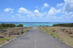 Camino que lleva a la playa Imagen de archivo
