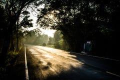 Camino que se calienta Foto de archivo libre de regalías