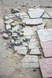 Camino quebrado gris de la calle imagen de archivo libre de regalías