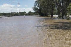 Camino Queensland marzo de 2017 inundado Fotos de archivo