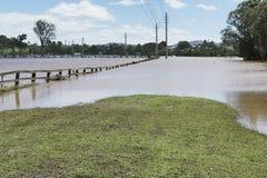 Camino Queensland marzo de 2017 inundado Foto de archivo