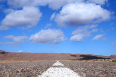 Camino recto Foto de archivo