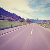 Camino recto Foto de archivo libre de regalías