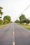 Camino recto Imagenes de archivo