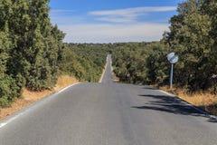 Camino recto vacío Foto de archivo libre de regalías