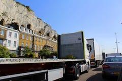 Camino Reino Unido de Dover de la circulación densa Fotografía de archivo libre de regalías